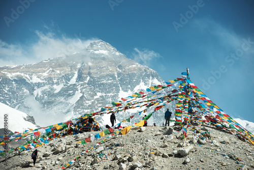Fotobehang Heuvel Spectacular mountain scenery on the Mount Everest Base Camp