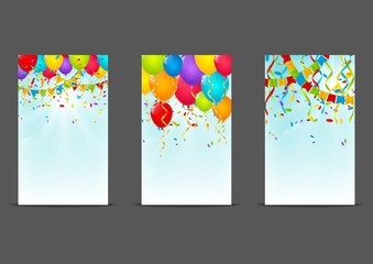 Set of 240 x 400 Birthday banners