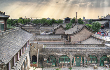 Thre are many kinfs of buildings in Pingyao
