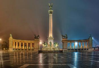 Millennium square in Budapest