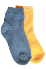 Pair of child's different socks