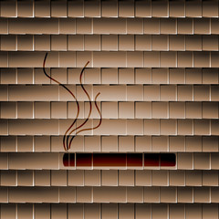 Smoking sign. cigarette. Flat modern