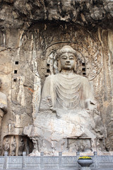 Longmen Grottoes with Buddha's statue