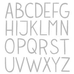 Hand draw vector full alphabet.
