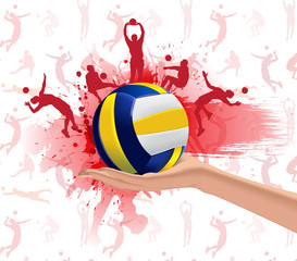 Volleyball sport design background