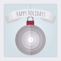 Bauble Holidays Card