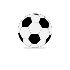 Football soccer ball isolated on white. Flat design style.