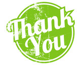 thank you rubber stamp poster