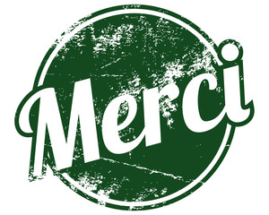 merci rubber stamp