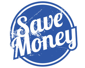 save money rubber stamp