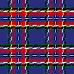 vector seamless pattern Scottish tartan Stewart