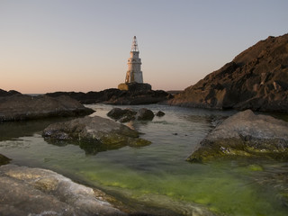 Lighthouse in Ahtopol early in the morning