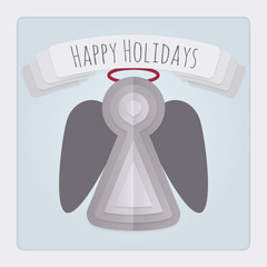 Angel Holiday Card