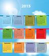 Spanish calendar for 2015