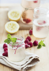 Lemonade with raspberry