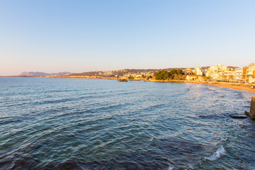 Cityscape and bay in city Chania/Crete/Greece