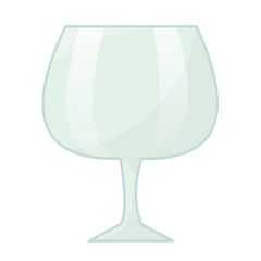 wine glass isolated illustration