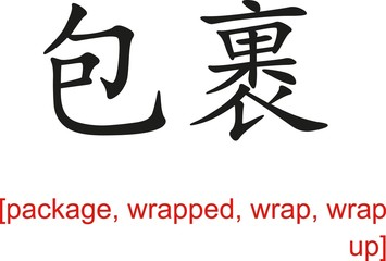 Chinese Sign for package, wrapped, wrap, wrap up
