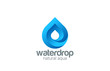 Water drop abstract infinite looped vector logo design