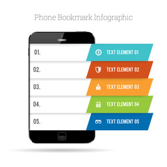 Phone Bookmark Infographic
