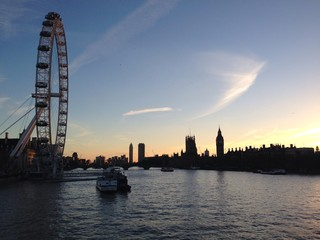 London Sunset over the River