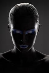 black girl with beautiful makeup