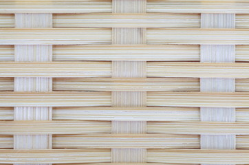 Bamboo brown straw mat as abstract texture background