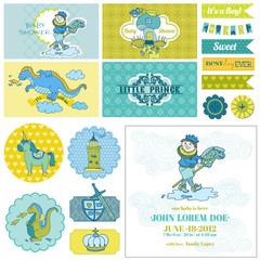 Baby Shower Little Prince Boy Set - for Party Decoration