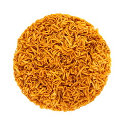 uncooked instant noodles on a white background