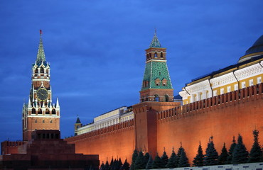 Red Square of Moscow by night. Moscow, Russia