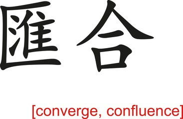 Chinese Sign for converge, confluence