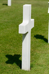 US Military Latin Cross gravestone World War II cemetery
