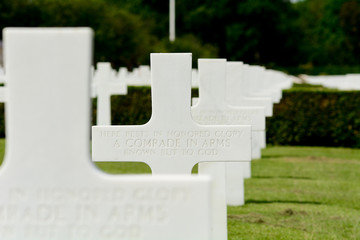 US Military line of graves for Unknown Soldier World War II