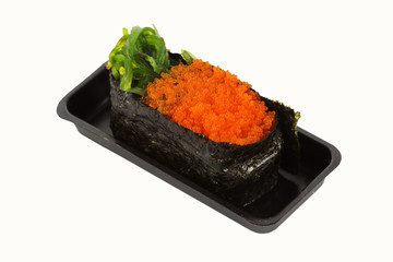 wakame and ebiko Sushi
