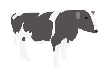 牛のイラスト 右向き