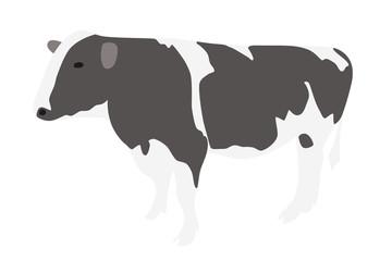 牛のイラスト 左向き