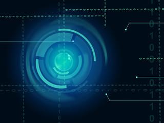 Electronic Sensor Background Means Eye Sensor Or Trendy Technolo