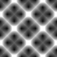 Design seamless monochrome checked diamond geometric pattern