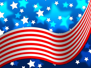 American Flag Background Means National Proud And Identity.