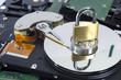 Leinwanddruck Bild - Festplatten Datensicherheit