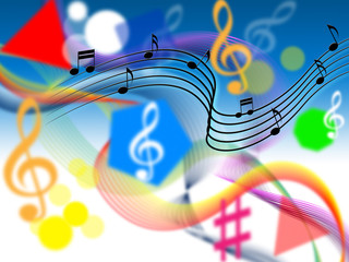 Music Background Shows Harmony Or Playing Tune.
