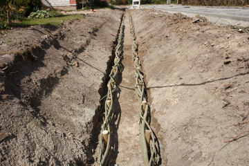 waste water trench