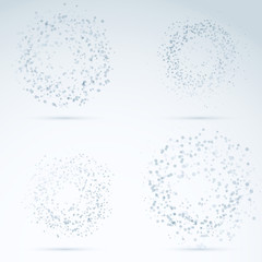 Drop design elements - transparent particles