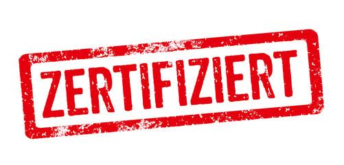 Roter Stempel - zertifiziert