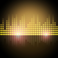 Music Equalizer Background Shows Frequency Meter Or Sound Analyz