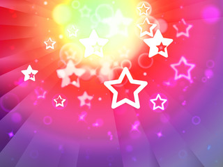 Stars Background Shows Shining Stars Or Glittery Design.