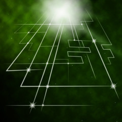 Laser Circuit Background Means Trendy Electrical Circuit.