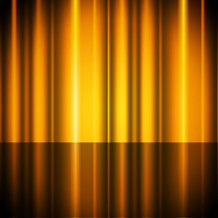 Yellow Curtains Background Shows Stage And Acting.