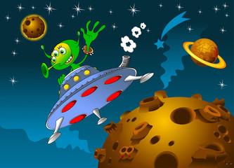landing of aliens © sababa66