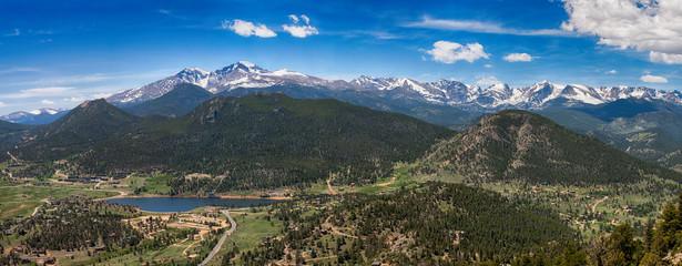 Panoramic view of Rocky mountains, Colorado, USA